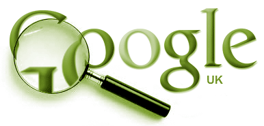 Google logo magnified