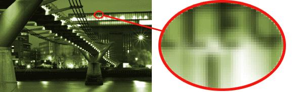 Bimap image showing pixels