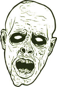 Zombie - created as a vector graphic
