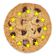 EU stars inside a cookie