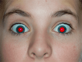 Unadjusted red-eye