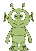 Cartoon martian