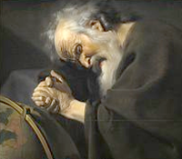 Heraclitus (c 535-475bce), looking as if he's just lost his internet connection