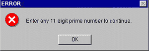 """Enter Prime"" message"