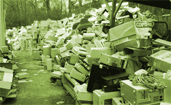 Pile of junked computers