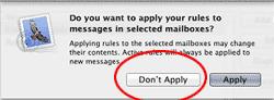 Mac Mail Don't Apply