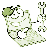 cartoon of PC Repair Man