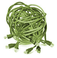 Tangled Ethernet Cables
